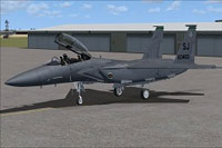 Screenshot of US Air Force McDonnell Douglas F-15 on the ground.