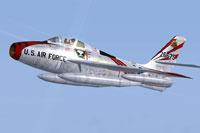 Screenshot of US Air Force Republic F-84F 78th TFS 1958 in flight.