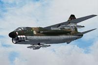 Screenshot of US Air Force Vought A-7 Corsair II in flight.