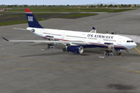 Screenshot of US Airways Airbus A330-200 on the ground.