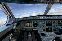 Screenshot of US Airways Airbus A330 cockpit.