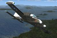 Screenshot of US Army Cessna U-3A in flight.