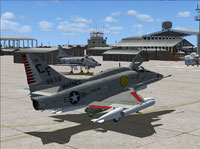 Screenshot of US Marines Douglas A-4 Skyhawk VMA-211 on the ground.