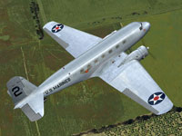 Screenshot of US Marines Douglas DC-2 in flight.