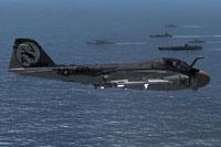Screenshot of US Navy A-6E Intruder VA-35 Black Panther in flight.