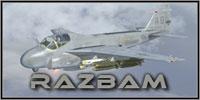 Screenshot of US Navy A-6E VA-145 Swordsmen in flight.