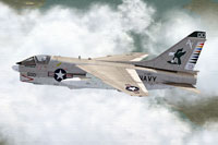 Screenshot of US Navy A-7 Corsair In CAG colors.