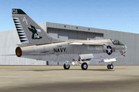 Screenshot of US Navy A-7 Corsair in VA-205 Squadron colors.