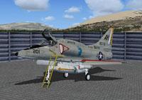 Screenshot of US Navy Douglas A-4 Skyhawk VA-106 on the ground.