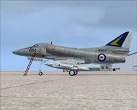 Screenshot of US Navy Douglas A-4 Skyhawk VC-724 RAN on the ground.