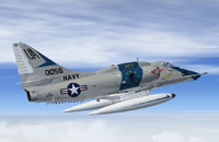 Screenshot of US Navy Douglas A-4E in flight.