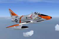 Screenshot of US Navy Douglas A-4E Skyhawk in the air.