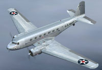 Screenshot of US Navy Douglas DC-2 in flight.