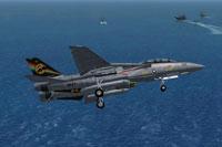 Screenshot of US Navy F-14D Tomcat VF-31 100NK Tomcatters 164342 in flight.