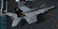 Screenshot of US Navy FA-18E parked.