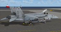 Screenshot of US Navy FA-18E VFA-97 parked on carrier.