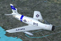 Screenshot of US Navy FJ-3 Fury in flight.