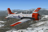 Screenshot of US Navy North American Aviation T-28 VT-5 in flight.