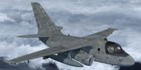 Screenshot of US Navy S-3B Viking in flight.