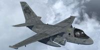 Screenshot of US Navy S-3B Viking in flight.