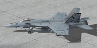 Screenshot of US Navy F/A-18E on the ground.