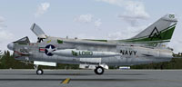 Screenshot of US Navy Vought A-7 Corsair II on the ground.