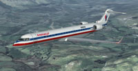 Screenshot of USA CRJ-700 in flight.