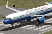 Screenshot of USAF Boeing C-32A on runway.