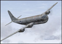 Screenshot of USAF Boeing 377 Stratocruiser 0151 in flight.