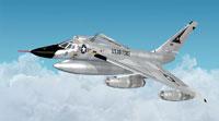 Screenshot of USAF Convair B-58 Hustler in flight.