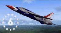 Screenshot of USAF F-105 Thunderbirds in flight.
