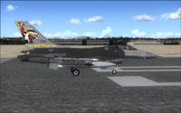 "Screenshot of USAF F-16 in ""Wild Weasel"" livery."