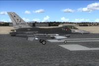 Screenshot of USAF F-16 612FS on runway.