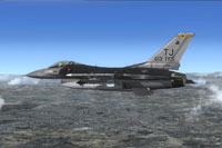 Screenshot of USAF F-16 613FS in flight.