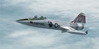 Screenshot of USAF Lockheed TF-104G in flight.