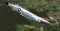 Screenshot of USAF McDonnell F-101 in flight.