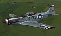 Screenshot of USAF P-51D Mustang FF-902 in flight.