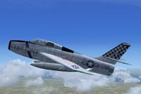 Screenshot of F-84F Thunderstreak FS-759 in flight.