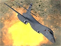 Screenshot of USAF Rockwell B-1B in flight.