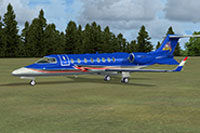 Screenshot of USAFC Learjet 45 on the ground.