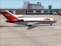 Screenshot of USAir Boeing 727-100 on the ground.