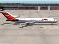 Screenshot of USAir Boeing 727-200 1980 on the ground.
