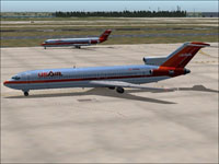 Screenshot of USAir Boeing 727-200 on the ground.