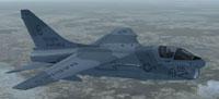 Screenshot of USMC A-7E in flight.