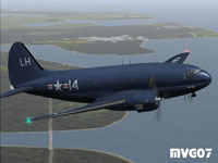 Screenshot of USMC Curtiss R5C-1 Navy Commando in flight.