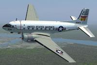 Screenshot of USMC Douglas C-117D MCAS Iwakuni in flight.