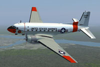 Screenshot of USMC Douglas C-117D SOES in flight.