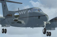Screenshot of USMC King Air 350 in the air.