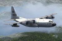 Screenshot of USMC Lockheed GV-1 in flight.
