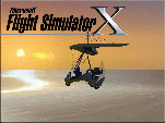 A splash screen showing the Air Creation Ultralight at sunset.